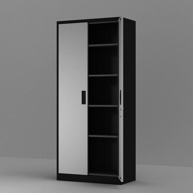 Steel Storage Cabinet , 5 Shelf Metal Storage Cabinet with 4 Adjustable Shelves and Lockable Doors 4