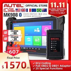 Image 1 - Autel MaxiCOM MK908 (MS908, Version améliorée), outil de Diagnostic automobile, Scanner OBD2, codage decu (même fonction que MS908)