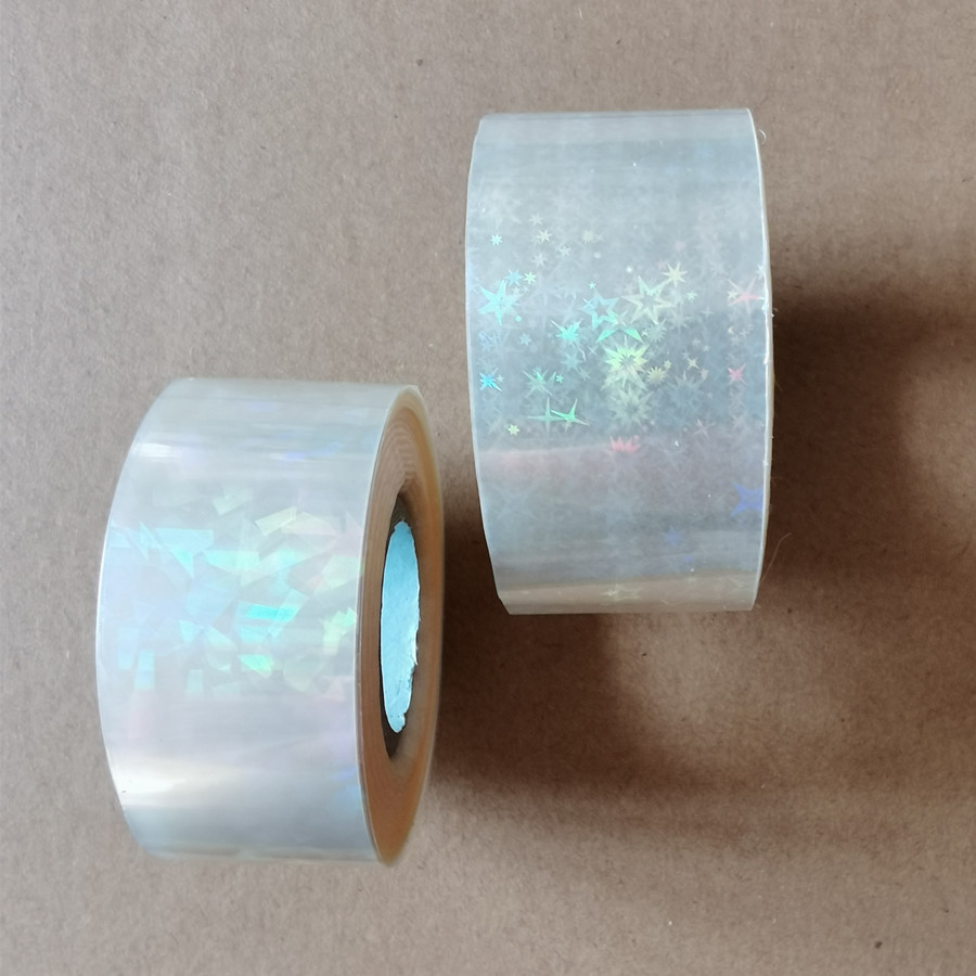 2rolls Samples Hot Stamping Foil Holographic Foil Hot Press On Paper Or Plastic Meterials Heat Transfer Film 3cm Or 5cm X 120m