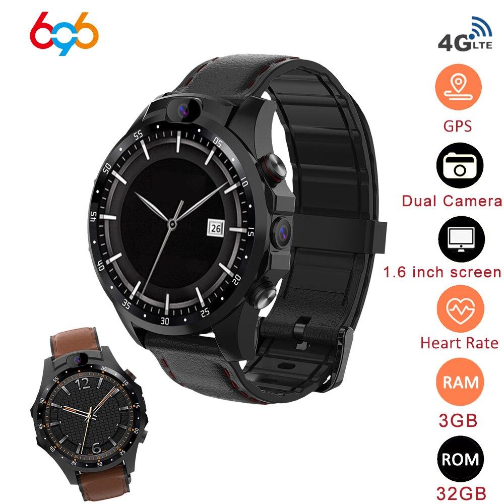 696 V9 4G Smart Watch Dual HD Camera Video Call Heart Rate Detection Multi-sports Mode GPS IP67 Waterproof 800mAh Battery Watch