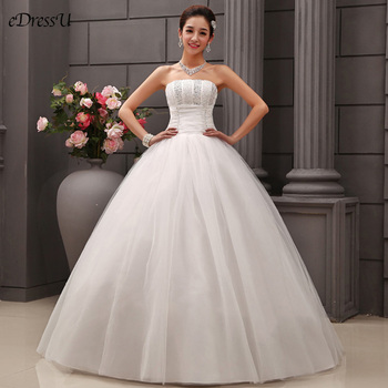 Luxry Beading Wedding Dress Elegant Corset Bridal Dress Boat Neck Backless Wedding Gown Lace up Dress Robe de Mairee OY-219