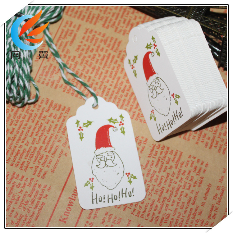 50pcs lot Merry Christmas DIY Unique Gift Tags JOY TO WORLD Tag Small Card Optional String DIY Creative Craft Label Party Decor in Party DIY Decorations from Home Garden