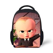 Boss Baby Print Kids Backpacks Small School Bag For Kindergarten Boys