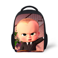 Boss Baby Print Kids Backpacks Small School Bag For Kinderga