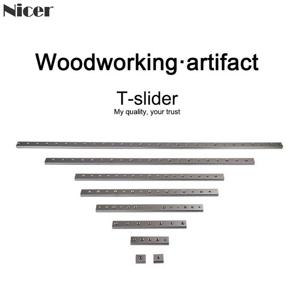 M6/M8 T-track Slider Sliding Nut Aluminum Alloy T Slot Nut For 30/45 Type T Tracks Jigs Screw Slot Fastener Woodworking Tools