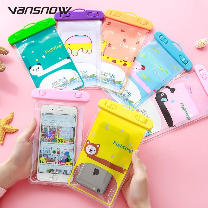Cute Universal Waterproof <font><b>Case</b></font> For iPhone X XS MAX 8 7 6 s 5 Plus Cover Pouch Bag <font><b>Cases</b></font> For <font><b>Phone</b></font> Coque <font><b>Water</b></font> <font><b>proof</b></font> <font><b>Phone</b></font> <font><b>Case</b></font> image