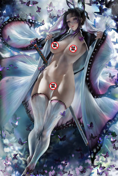 Print silk or canvas Kimetsu no Yaiba sexy lady art poster 16x24 24x36 inch custom living room bedroom decorative painting printed silk or canvas bayonetta game art poster 16x24 24x36 inch custom living room bedroom home art wall picture