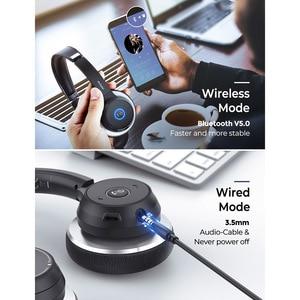 Image 4 - Cuffie Wireless Mpow HC5 aggiornate cuffie Bluetooth 5.0 con microfono CVC8.0 a cancellazione di rumore per telefono PC Computer Office