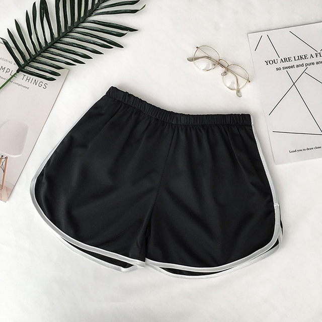 Zogaa Summer Street Casual Female Stretch Shorts Contrast Elastic Waist Correndo Shorts Mid Waist Causal Cotton Sexy Home Shorts 4