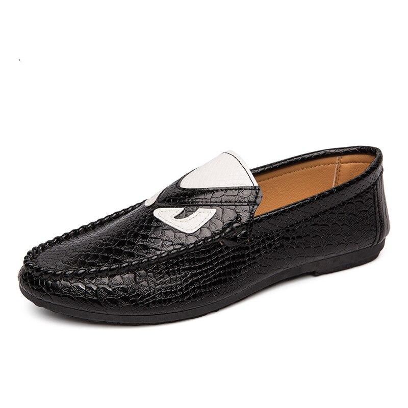 2019 nouvelle tendance mocassins chaussures pour hommes à la main appartements hommes chaussures noir conduite mocassin hommes confortable Pu cuir mocassins chaussures