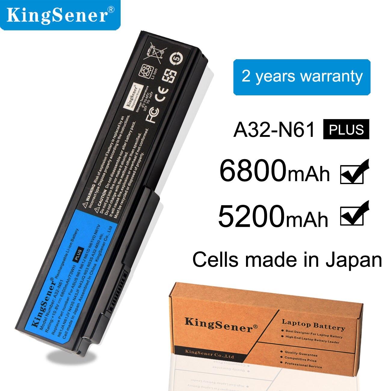 KingSener Korea Cell A32-N61 Battery For ASUS N61 N61J N61D N61V N61VG N61JA N61JV M50s N43S N43JF N43JQ N53 N53S N53SV A32-M50