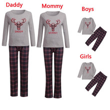 Family Pajamas Set Christmas Clothes Warm Adult Kids Girls Boy Mommy Sleepwear Baby Kid Dad Mom Matching Outfits E0302