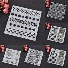 DIY Decorative Album Paper Card Scrapbooking Painting Cutting Die Cake Spray Pattern Stencil Embossing Airbrush Templates(China)