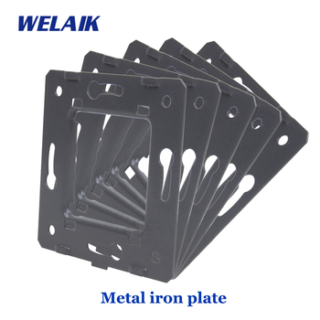 Placa de hierro de montaje gris CE UE A-AMIP