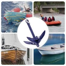 0.7 キロボート折りたたみ四爪錨アンカー 316 ステンレス鋼アンカー海洋ヨットカヌーカヤックヨット釣りジェットスキーなど 6.9 インチ