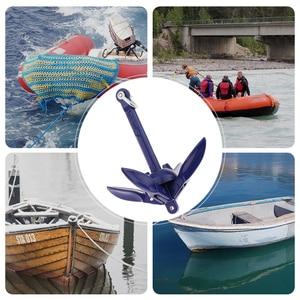 Image 1 - 0.7 kg barco dobrável grapnel âncora 316 âncora de aço inoxidável para iate marinho canoa caiaque veleiro pesca jet ski etc 6.9 Polegada