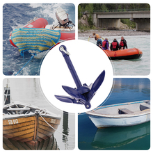 Ancla plegable para bote de 0,7 KG, ancla de acero inoxidable 316 para yate marino, canoa, Kayak, velero, pesca, Jet Ski, Etc 6,9 pulgadas