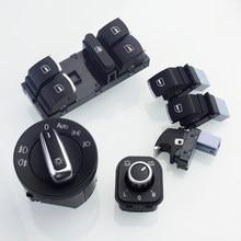 Interruptor de farol lateral, botão de apertar, mestre, para janela, passat b6, tiguan, caddy golf jetta mk5, 5nd 941 431 b