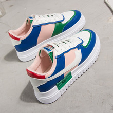 SWYIVY Women Casual Shoes Woman Sneakers Platform Flats Ladies Lace Up Chunky Sneakers for Women Vulcanized Shoes Spring Autumn woman sneakers metallic color woman shoes front lace up woman casual shoes low top rivets embellished platform woman flats brand