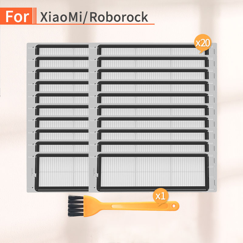 20PCS Vacuum Cleaner Filter HEPA Accessories For Xiaomi 1S 2S Roborock S50 S6 S55 S51 Robot Vacuum Cleaner  Parts