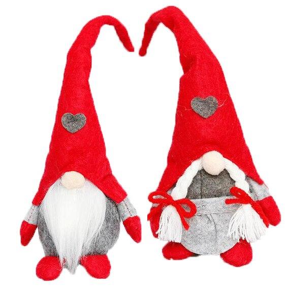 Рождественские праздничные украшения «сделай сам», милая шерстяная кукла-гном, Рождественская кукла, кулон, креативное Рождественское укр...