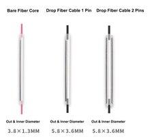 1000 חתיכות 60mm סיבי חום מתכווץ צינור Bare1 פין סיבי ליבת צינור/1 פין זרוק סיבי כבל צינור/2 סיכות זרוק סיבי כבל צינור