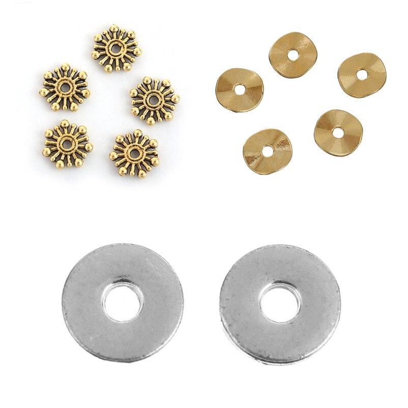Бусины на основе цинка DoreenBeads, вставки из сплава золотого цвета, Волнистые детали для самостоятельной сборки, подвески для ожерелий и сереже...