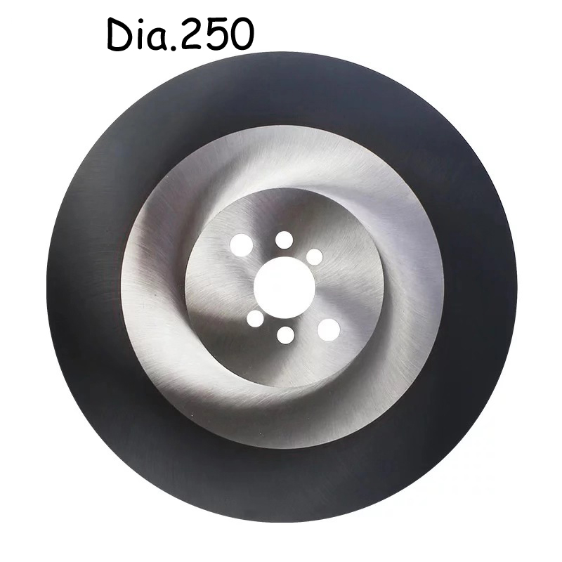 Dia.250 HSS Circular Saw Blade With TiAIN-Coated For Industry Metal Cutting W5/DM05 Pipes Cutter Black