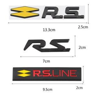 Image 2 - ملصق سيارة RS ملصق شعار لرينو RS Line كليو ميجان ذو المناظر الطبيعية الخلابة لاغونا لوجان كوليوس سانديرو سافران فيلساتيس أركانا تاليسمان
