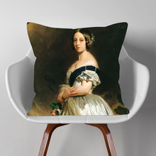 """Европейский стиль, портрет королевы художественная подушка крышка модная женская обувь в винтажном стиле с принтом """"картина"""" наволочка ..."""