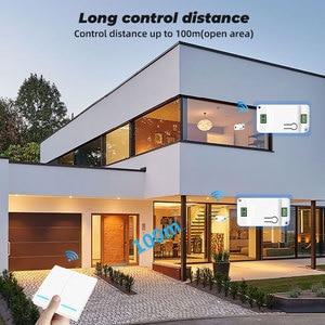 Image 4 - SMATRUL 1/2/3 Gang 433Mhz inteligentny Push bezprzewodowy włącznik ścienny światło RF pilot zdalnego sterowania 110V 220V odbiornik przycisk Home lampa sufitowa
