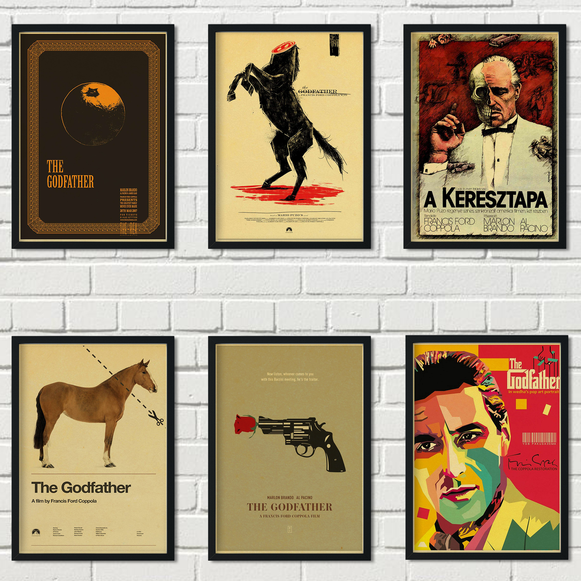 Popular <font><b>Gangster</b></font> Shootout Movie Godfather Retro Style Kraft Paper <font><b>Poster</b></font> Wall Art Decoration Painting Cafe Bar Decoration a60 image