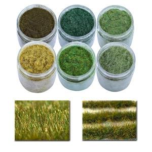 Model Static Grass Flock Powder Foliage For Railway Artificial Mini Terrain Lawn Wargame Landscape Scenery Diorama Accessories