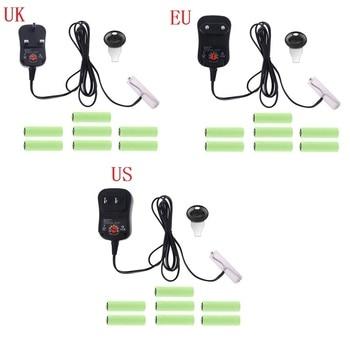 Fuente de alimentación AA Eliminador de batería, enchufe de EE. UU./UE/Reino Unido, tensión regulable, adaptador de 3V, 4,5 V, 6V, 9V, 12V, puede reemplazar baterías 2AA a 8AA