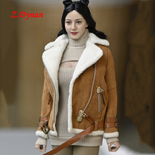 1/6 Scale Female Soldier Clothes Coat Cashmere Jacket for 12 Inches TBLEAGUE Seamless Body Figure