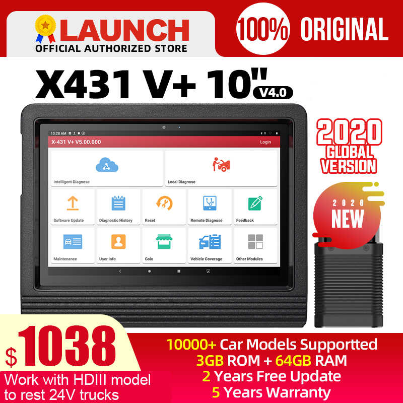 "Launch X431 V plus 10 ""X 431 V + OBD2 Diagnose Scanner Automotive OBDII Auto Diagnose Werkzeug Auto Bluetooth WIFI PK X431 pro3 PRO"