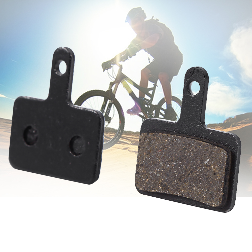 Black 4 Pair/8pcs MTB Mountain Bike Cycling Red Copper Fiber Metal Disc Brake Pads for <font><b>Shimano</b></font> M446 <font><b>355</b></font> 395 BB5 Bicycle Parts image