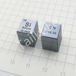 [Full mirror surface] High-purity single crystal silicon Silicon cube Periodic table type cube 10mm Si≥6N