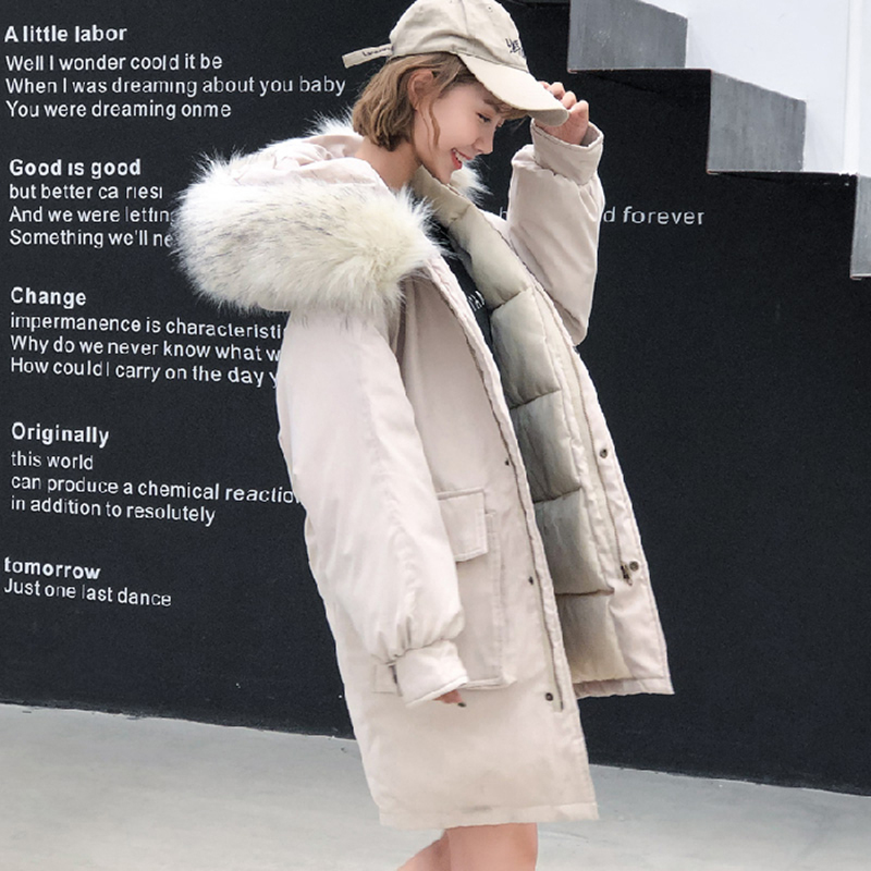 Fashion Autumn Winter Peach skin Jacket Women Loose Thick Cotton Down   Parkas   Padded Coat Female Slim Short Jackets Outwear