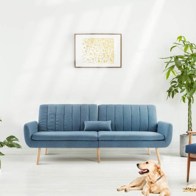 Sofa Futon Bed, Convertible Sleeper Couch  1