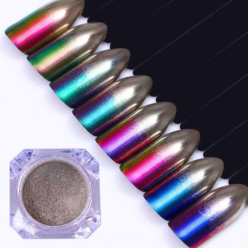 1 תיבת פרל נייל גליטר אבקת מראה מט אפקט נצנצים לייזר אבק מניקור הבלחה פיגמנט נייל קישוט