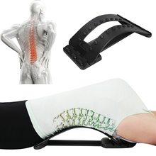 Voltar estiramento massageador maca mágica fitness apoio lombar relaxamento coluna dor corrector