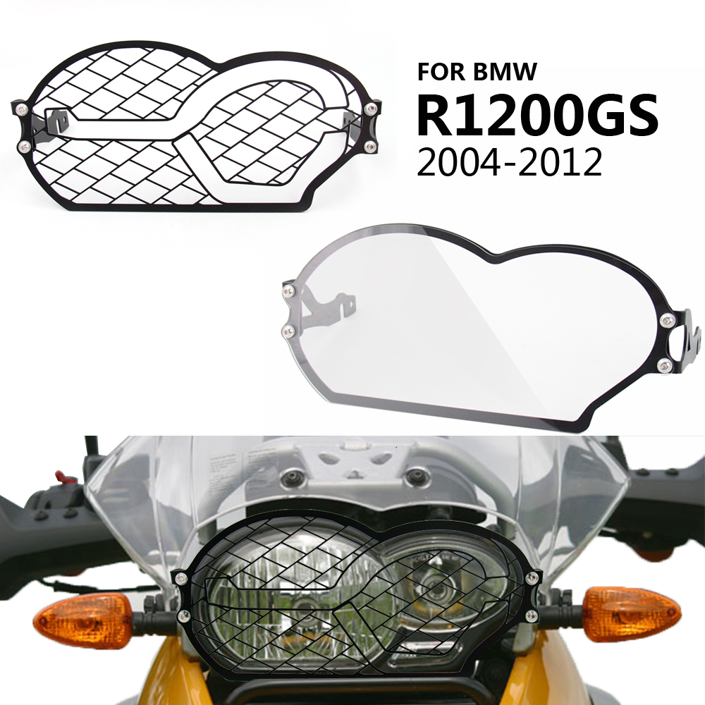 for <font><b>BMW</b></font> R <font><b>1200</b></font> <font><b>GS</b></font> 2006 <font><b>2007</b></font> 2008 2009 2010 2011 2012 Stainless steel Headlight Protector Guard Headlight Grill Cover image