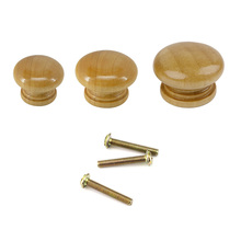 10Pcs Wooden Knob Drawer Pulls Cabinet Wardrobe Handle 24mm 27mm 32mm Round Knobs Kitchen Furniture Hardware Wholesale Lot