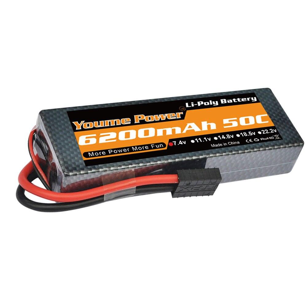 YOUME 7 4V 6200mAh Lipo Battery 2s lipo 50C With Deans Plug XT60 XT90 trx connector