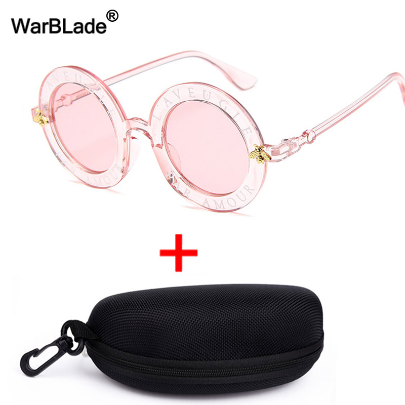 WarBlade Retro Round Sunglasses Women Luxury Brand Designer Bee Frame Circle Sun Glasses Fashion Female Eyewear Oculos De Sol