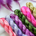 High quality gradient Suzhou embroidery thread 100% silk embroidery silk hand embroidery 24 colors 20 small pieces/1large piece