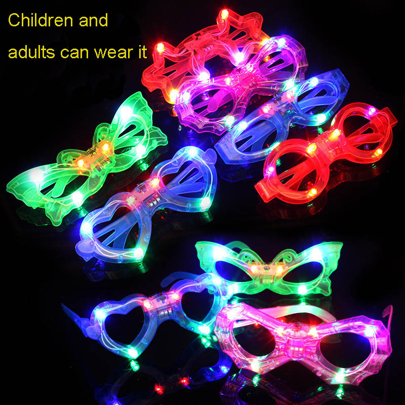 Kids Eye-catching Party Eyewear Toy Flashing Led Glasses Luminous Light Up Gift Glowing Headband New Years Eve Party Supplies