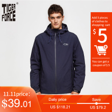 Spring Jacket Tiger-Force Outerwear Hooded Windbreaker Men Coat Men's Casual Cotton Windproof