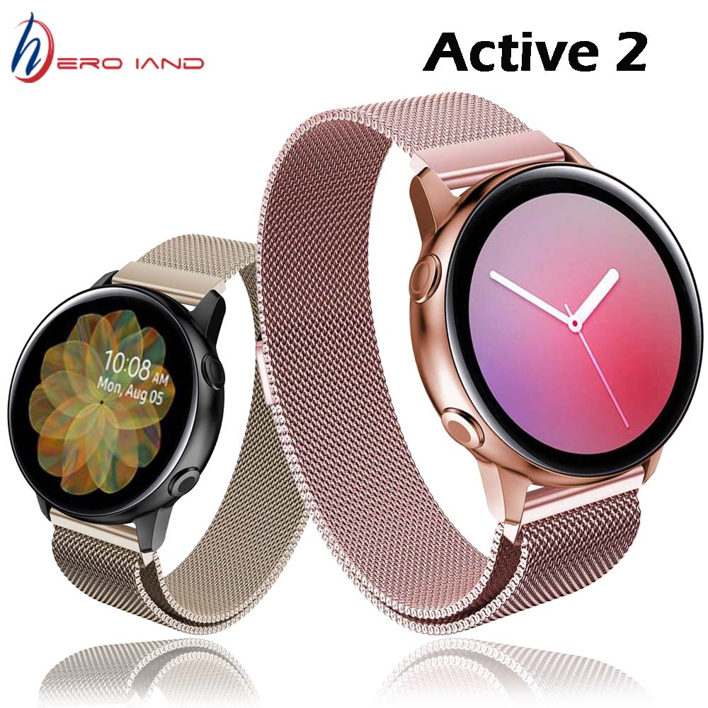 20mm galaxy watch 42mm strap for Samsung Gear S2 Milanese loop band active 2 44/40mm huami amazfit bip GTR Strap Bracelet Correa